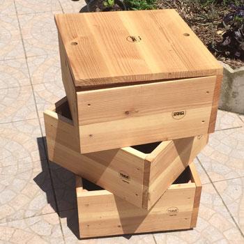 Lombricomposteur bois moyenne capacité