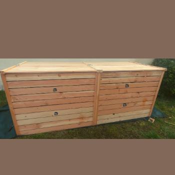 Lombricomposteur bois grande capacité
